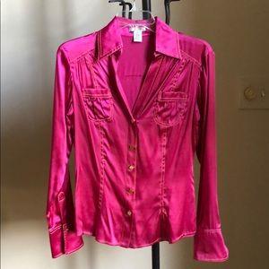 Cache pink silk top